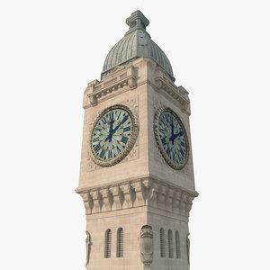 gare lyon tower 3D model