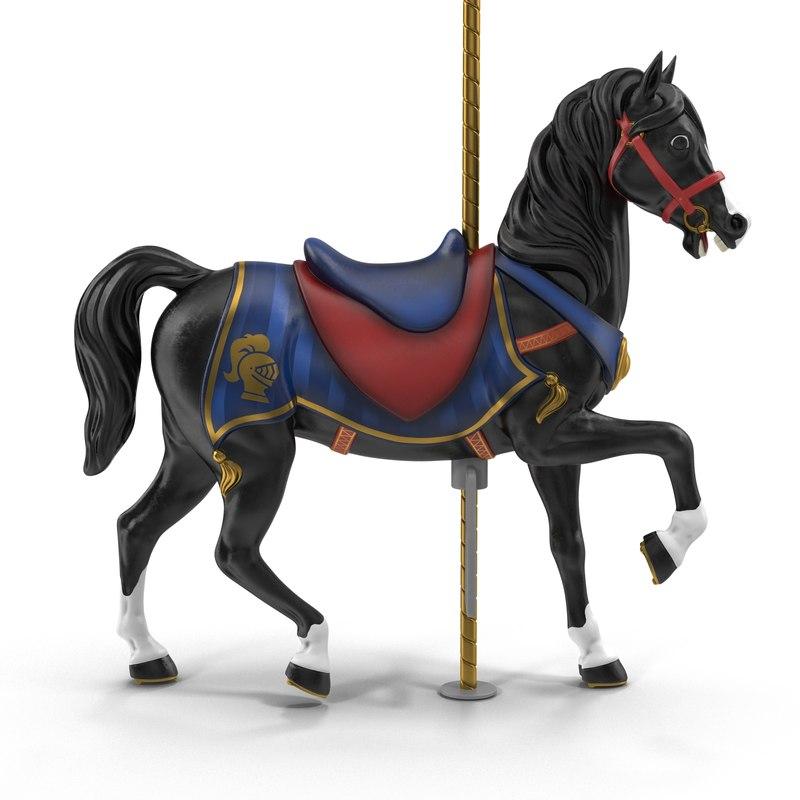3D model carousel horse v5