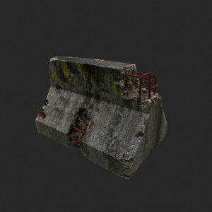 block roadblock 3D model