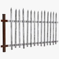 3D old fence model