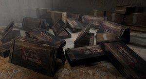 ammo crate storage scene 3D model