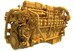 3D marine propulsion 20 cylinders