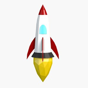 cartoon rocket toon 3D