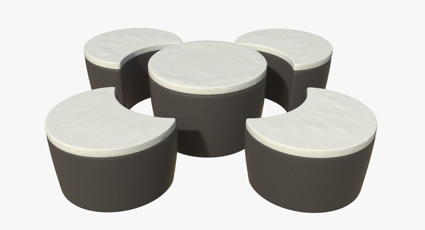 3D model furniture terrace