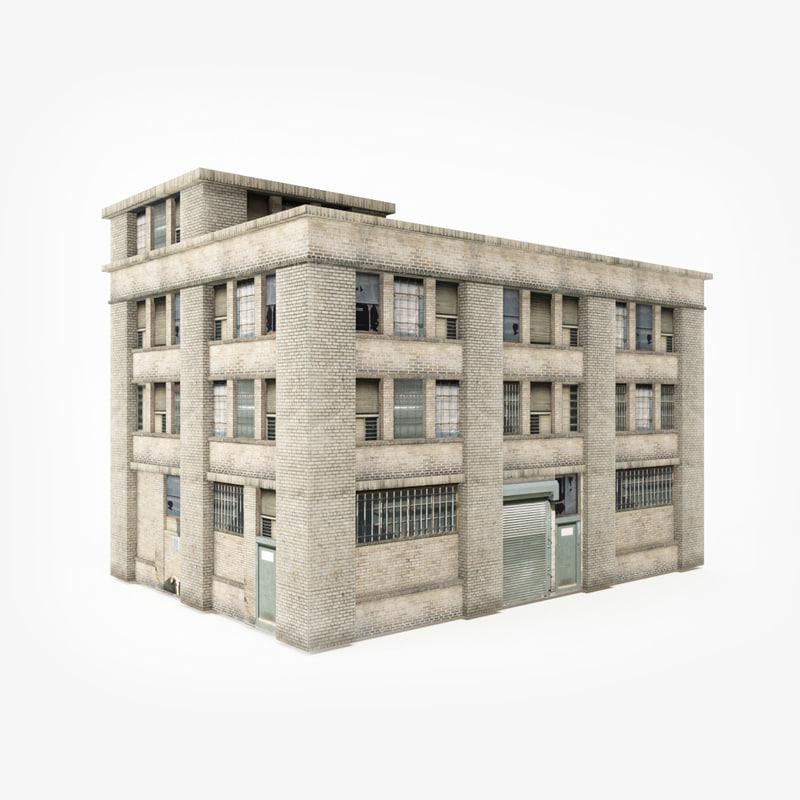 ready industrial building 3D