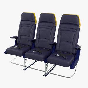 ryanair economy seat 3D model