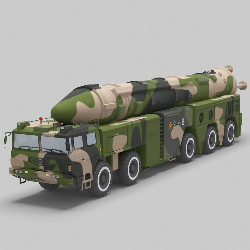 chinese df-21 missile 3D