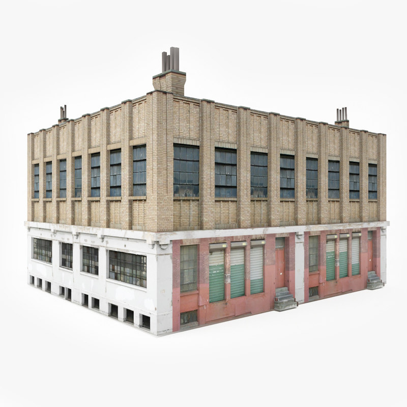 3D model ready industrial building