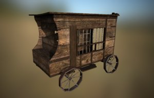 western jail 3D model