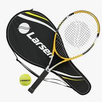 tennis rackets larsen 300a 3D model