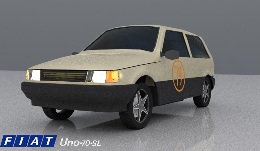 3D model fiat 70s