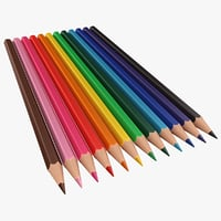 realistic colored pencils 3D model