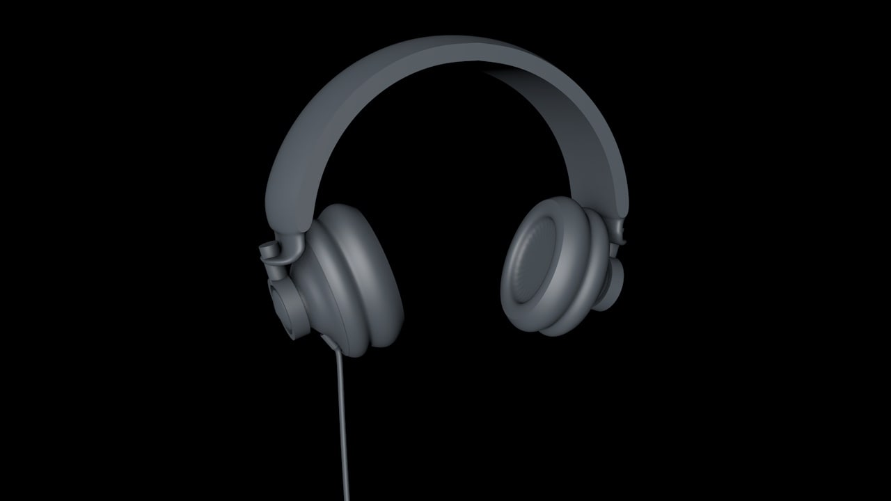 headphones retro 3D