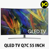 samsung qled tv q7c 3D model