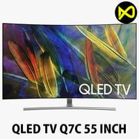 samsung qled tv q7c 3D model