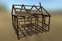 3D model western construction