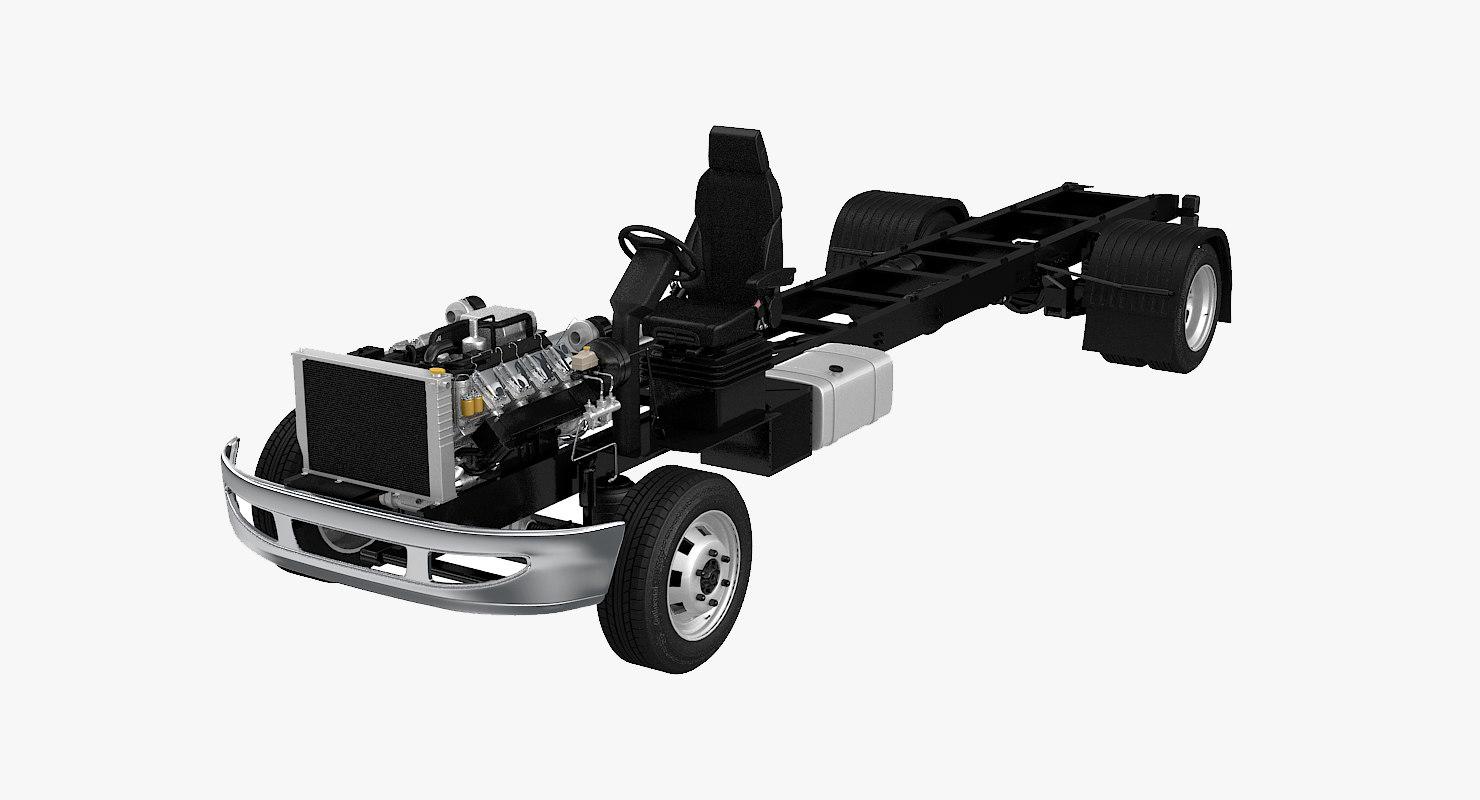 semi truck undercarriage 3D model