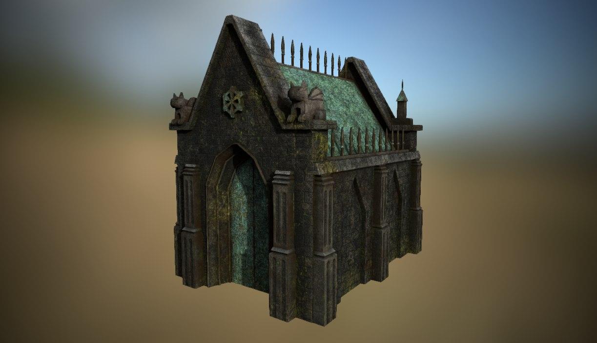 steampunk cript 3D model
