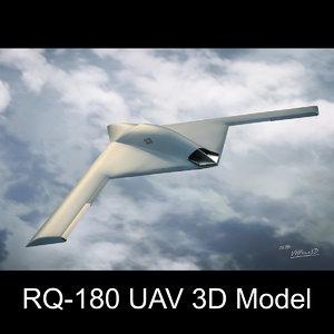 3D rq-180 stealth drone