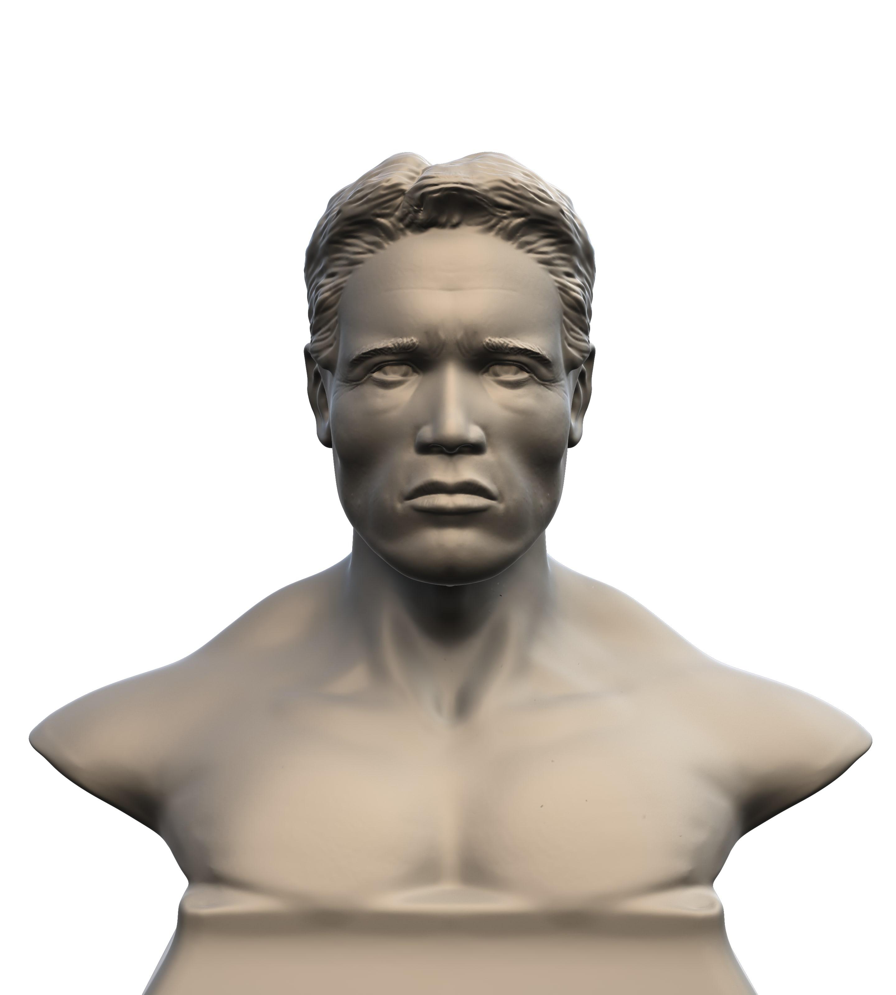 3D model arnold schwarzenegger 3dmodel printer