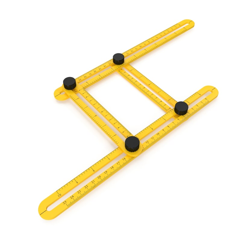 multi angle measuring ruler 3D