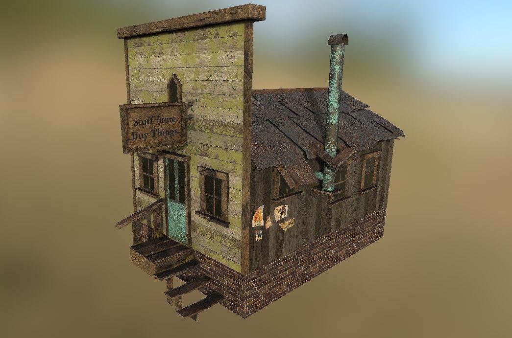 western grocery store 3D model
