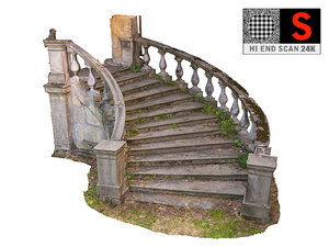 abandoned palace staircase 3D model