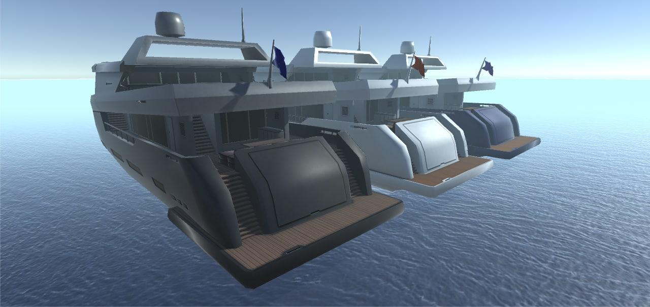 3D model yacht exterieur