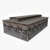 old abandoned warehouse 3D
