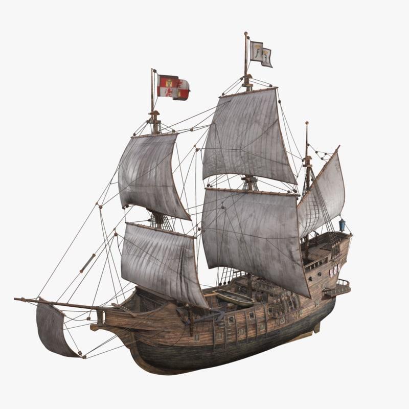 ship sanfrancisco 3D model
