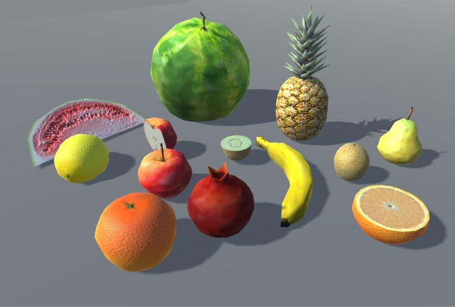 3D fruits apple