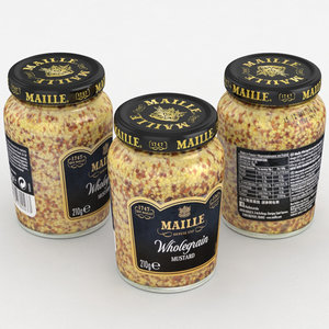 3D mustard maille food