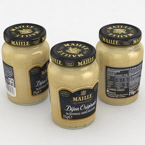 3D model mustard maille food