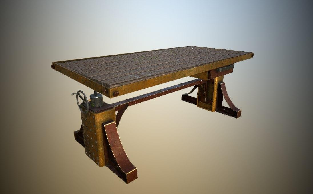 steampunk table 3D