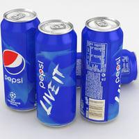 3D pepsi 500ml beverage