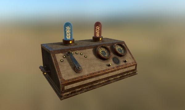 machine steampunk 3D model