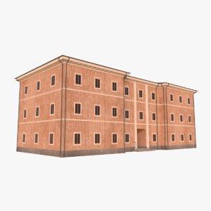 3D scandinavian building model