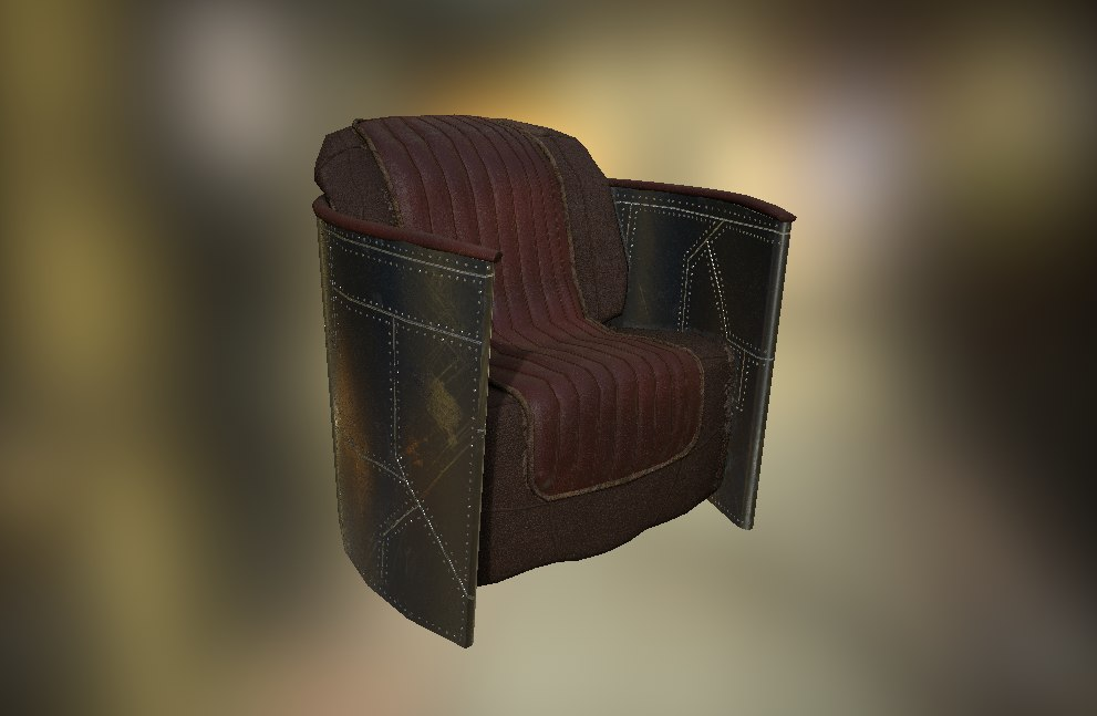 3D chair steampunk aviator