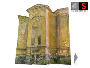 abandoned palace facade 8k 3D