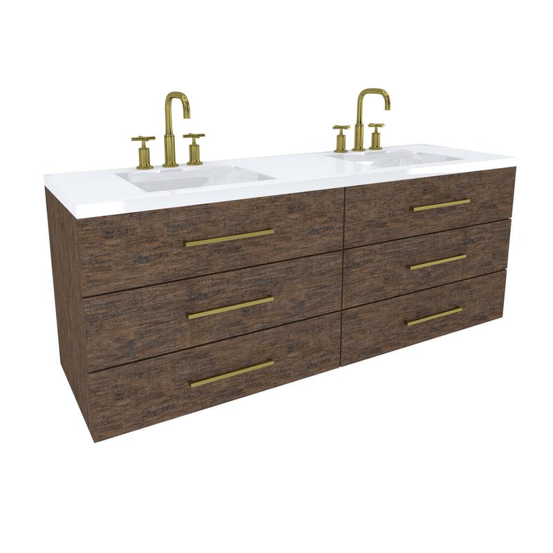 vanity cabinet 3D model