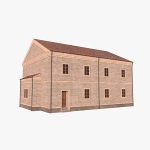 3D model scandinavian building