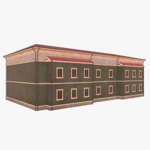 scandinavian building 9 3D model