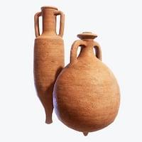 3D roman amphorae pack