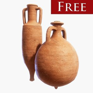 3D roman amphora pack model