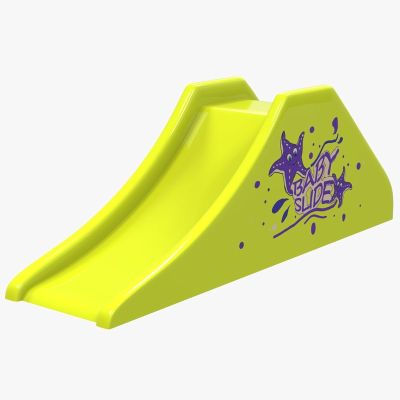 3D model toboggan baby slide