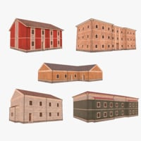 3D scandinavian buildings 2