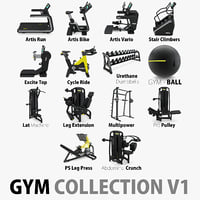 Gym Equipment  Collection V1 14 Models