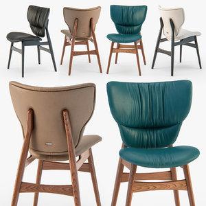 3D cattelan italia dumbo chair wood model