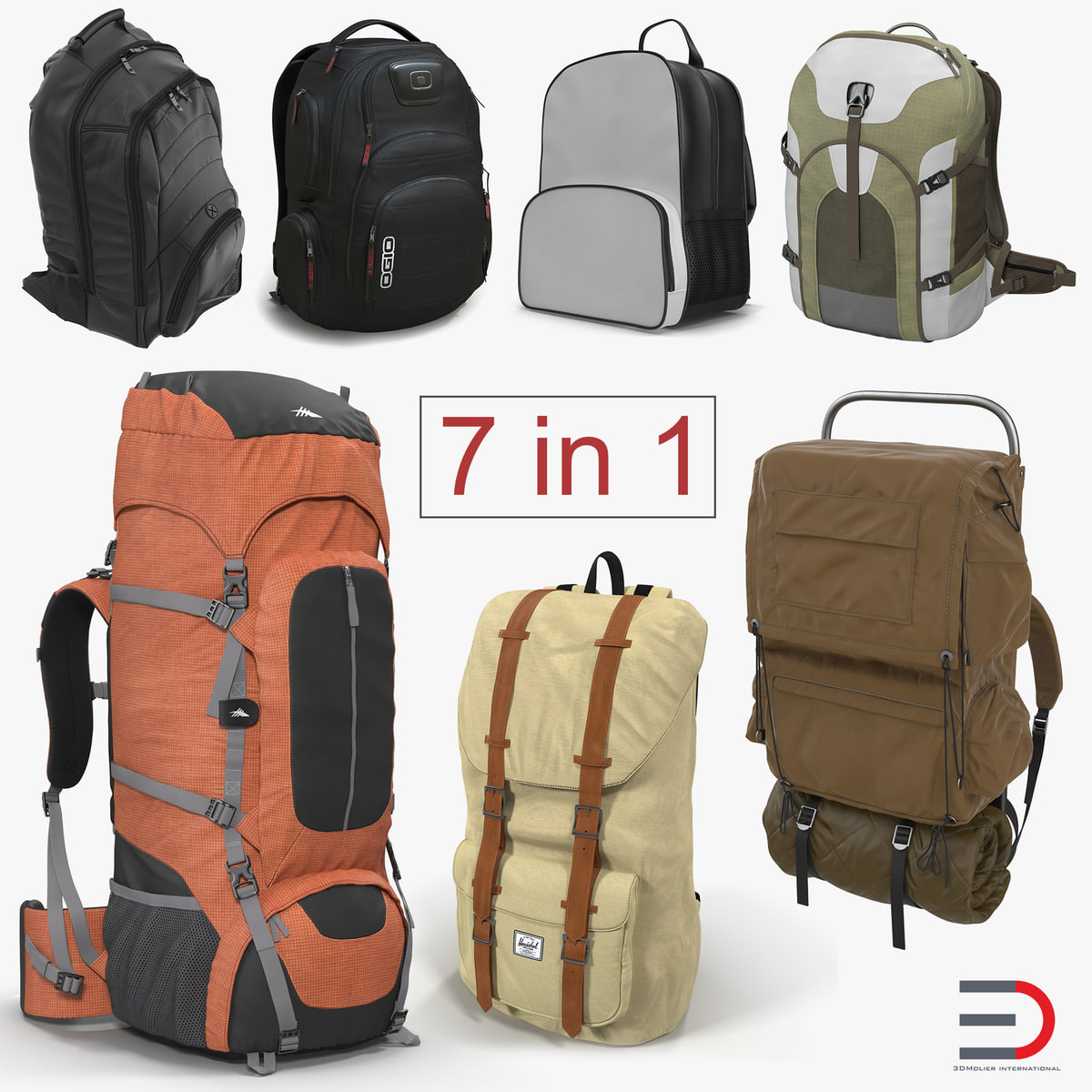 backpacks 6 3D model