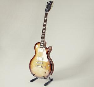 3D electric guitar gibson les